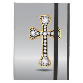 """Cruz cristiana con las piedras del """"diamante"""""""