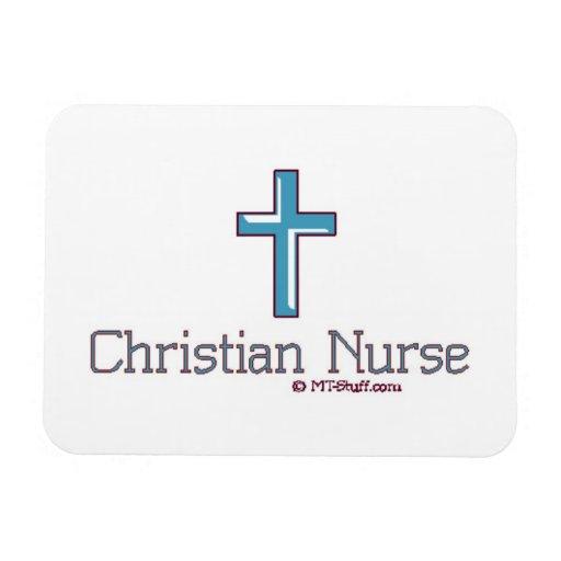 Cruz cristiana de la enfermera imanes