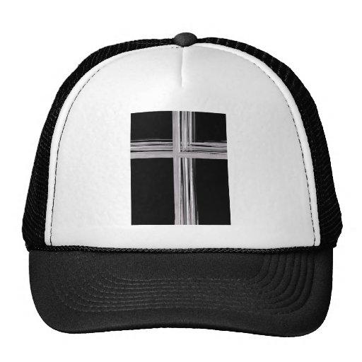 Cruz cristiana de plata abstracta gorros bordados