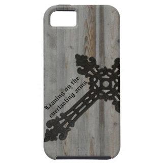 Cruz cristiana del hierro del vintage en la mirada iPhone 5 funda