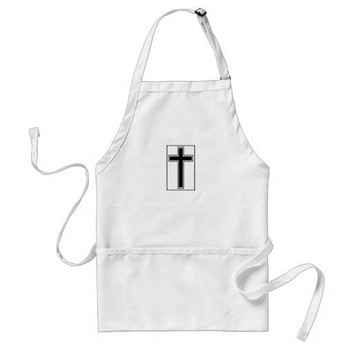 Cruz cristiana delantal