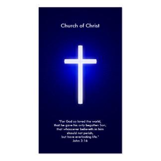 Cruz cristiana el   azul marino tarjetas de visita