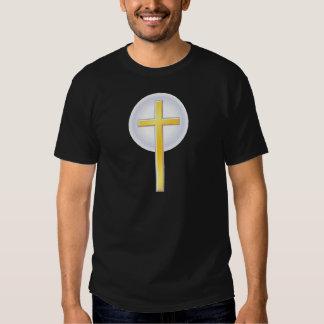 Cruz cristiana en amarillo poleras
