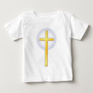 Cruz cristiana en amarillo remera