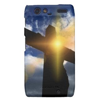 Cruz cristiana en el servicio de la salida del sol droid RAZR carcasa
