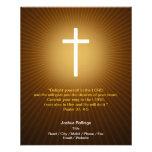 Cruz cristiana en fondo azul tarjeton