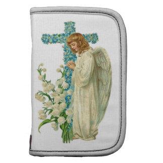 Cruz cristiana florecida azul planificador