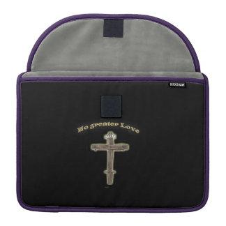 Cruz cristiana funda para macbooks
