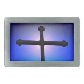 Cruz cristiana hebillas de cinturón rectangulares