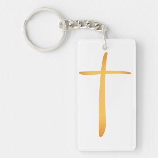 Cruz cristiana latina llavero