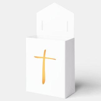 Cruz cristiana latina moderna caja de regalos