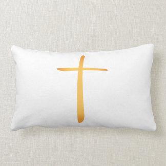 Cruz cristiana latina moderna cojín