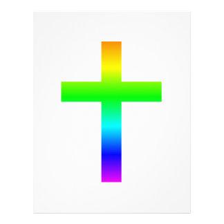 Cruz (cristiana) latina plantilla de membrete