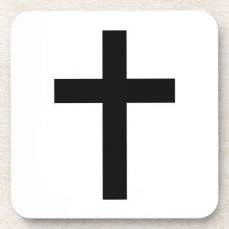 Cruz (cristiana) latina posavasos de bebidas