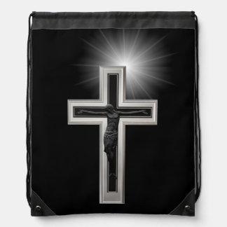 Cruz cristiana mochila