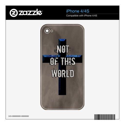 Cruz cristiana NOTW de Not of this World Calcomanía Para iPhone 4