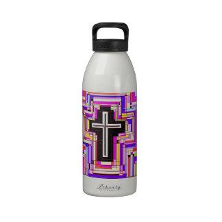 cruz cristiana religiosa botellas de agua reutilizables