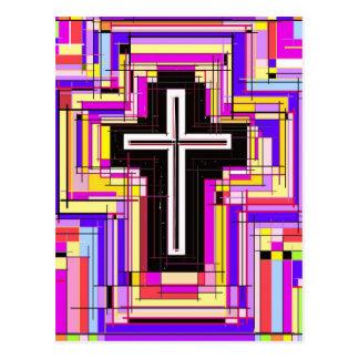 cruz cristiana religiosa tarjeta postal