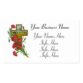 Cruz cristiana rural tarjeta de negocio
