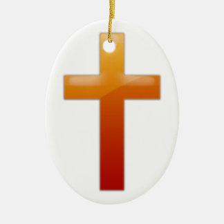 Cruz cristiana simple adorno de navidad