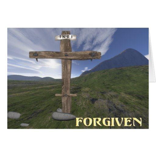 Cruz cristiana tarjeta de felicitación