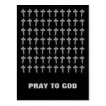 Cruz cristiana tarjeta postal