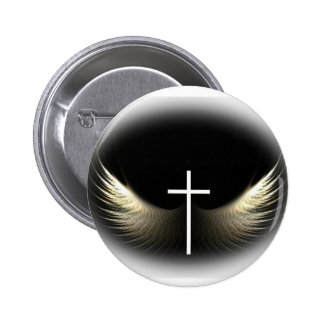 Cruz cristiana y Espíritu Santo Pin Redondo De 2 Pulgadas