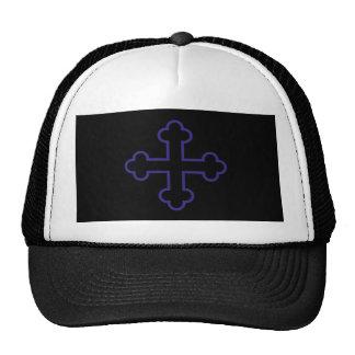 cruz cuadrada azul de los apóstoles o cruz floreci gorra