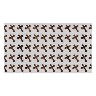 Cruz de Brown oscuro en el fondo blanco Plantilla De Tarjeta De Visita