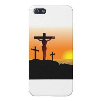 Cruz de Calvary de Pascua iPhone 5 Protector