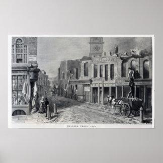 Cruz de Charing, 1830 Póster