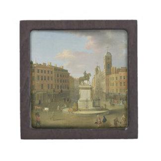 Cruz de Charing, con la estatua de rey Charles I a Caja De Joyas De Calidad