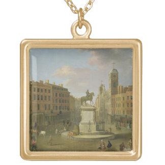 Cruz de Charing, con la estatua de rey Charles I a Colgante Cuadrado