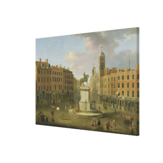 Cruz de Charing, con la estatua de rey Charles I a Lona Estirada Galerías