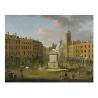 Cruz de Charing, con la estatua de rey Charles I a Postal