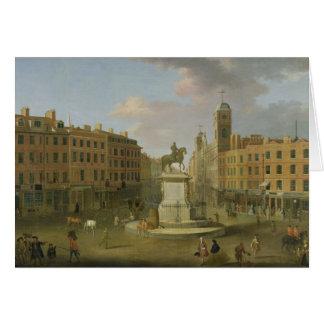 Cruz de Charing, con la estatua de rey Charles I a Tarjeta De Felicitación