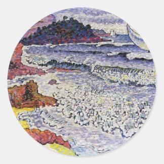 Cruz de Enrique-Edmundo el mar picado Etiqueta Redonda