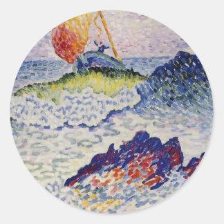 Cruz de Enrique-Edmundo el naufragio Etiqueta Redonda