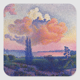 Cruz de Enrique-Edmundo la nube rosada Pegatinas Cuadradases