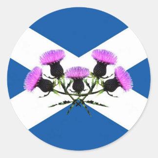 Cruz de Escocia, Saint Andrews, cardo Pegatina Redonda