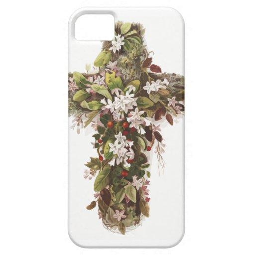 Cruz de flores iPhone 5 Case-Mate coberturas