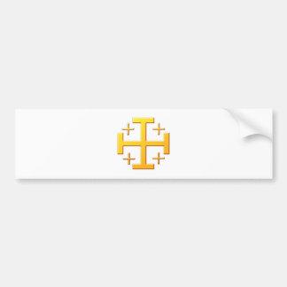 Cruz de jerusalén cross Jerusalén Pegatina Para Auto
