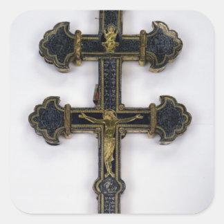 Cruz, de la abadía de Clairmarais Pegatina Cuadrada