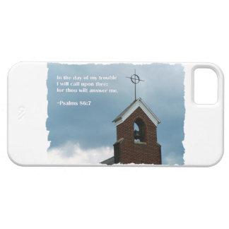 Cruz de la aguja de la iglesia del país del 86:7 d iPhone 5 Case-Mate funda