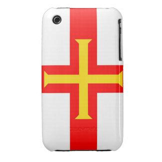 cruz de la caja de la bandera de país de Guernesey Funda Para iPhone 3