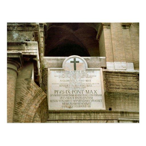 Cruz de la consagración en el Colosseum Tarjeta Postal