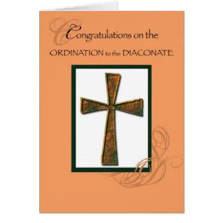 Cruz de la enhorabuena de la ordenación del diacon felicitaciones