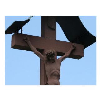 cruz de la estatua tarjeta postal