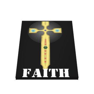 cruz de la fe impresión de lienzo