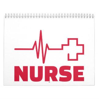 Cruz de la frecuencia de la enfermera calendarios